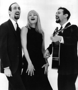 Our folksinging idols Peter, Paul & Mary in 1963. Public domain. Source: Wikimedia Commons.