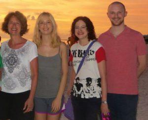 In Florida with Molly (19), Sabrina (30), Ben (27)