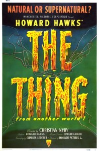 "Original film poster from ""The Thing from Another World,"" based on ""Who Goes There?"" by Don A. Stuart"