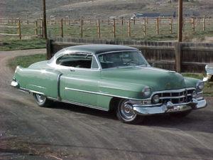 52 two tone green Cadillac