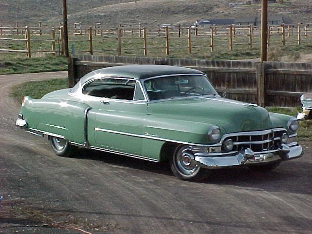 52 two tone green Cadillac - Retrospect