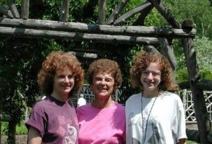 3 generations of curly hair, circa 2000