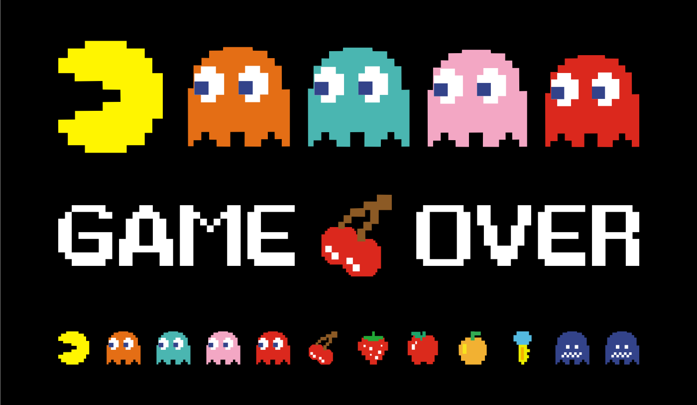 Image result for pacman game over png