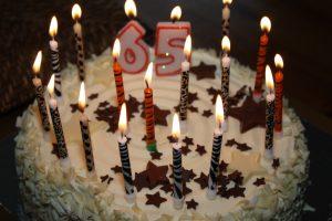 65th birthday cake