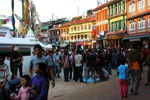 Bodha Stupa street scene