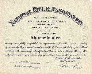 Sharpshooter award