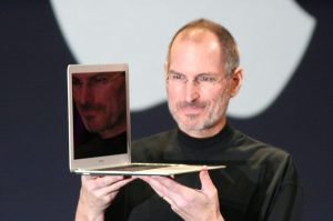 Steve Jobs with MacBook Air