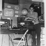 Mickey Unger in his basement radio studio