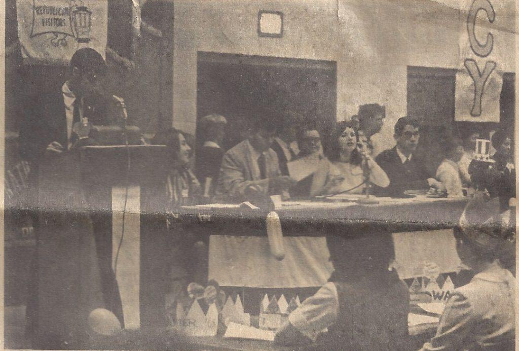 Dondero High School Mock Political Convention, 1968