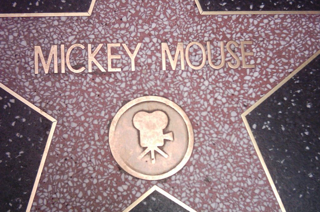 Mickey Mouse on Walk of Fame
