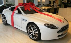 Gift wrapped Aston