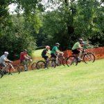 start of mountain bike race