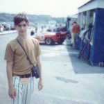 The author at fourteen at an auto race